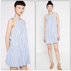 NWT ZARA Striped Drop Waist Dress